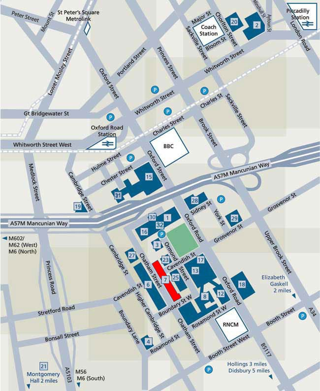 manchester metropolitan university campus map Large Map manchester metropolitan university campus map
