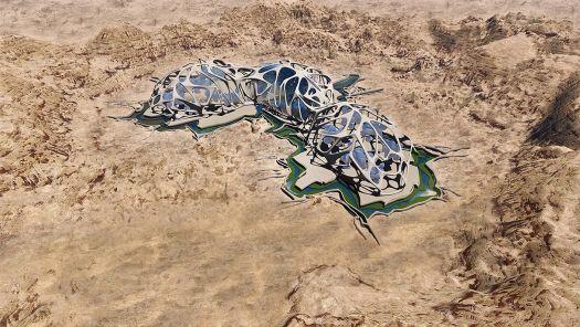 Prototype of a habitat on Mars.