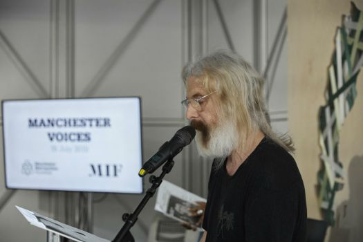 Actor and Manchester School of Theatre alumnus David Threlfall performed at the University's Glass House event
