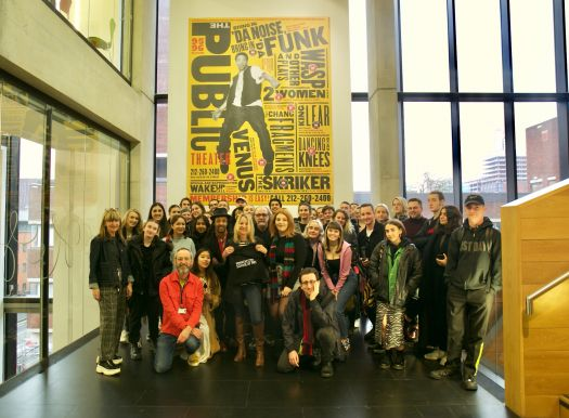Paula Scher with staff and students from Graphic Design