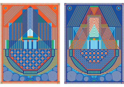 Two new tapestries by Yelena Popova called Keepsafe (I and II)