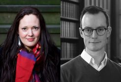 Image showing QuietManDave Prize winners Elisabeth Ingram Wallace and David Calder