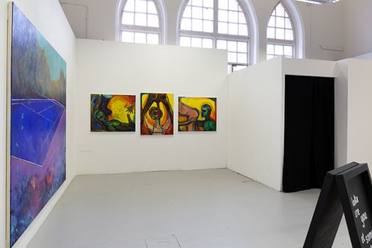 Image showing Fine Art work on display