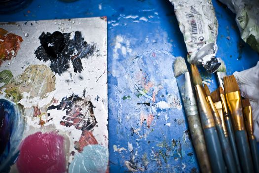 Image showing painting materials
