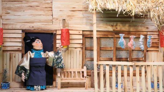 Image still from student film 'Silk Worm'