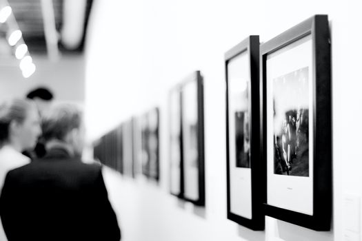 Image showing artworks on display in gallery