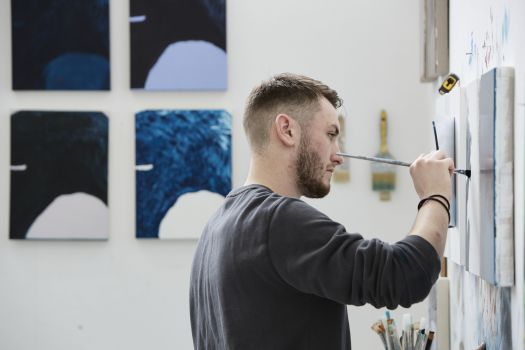 Ryan working in our Fine Art studios