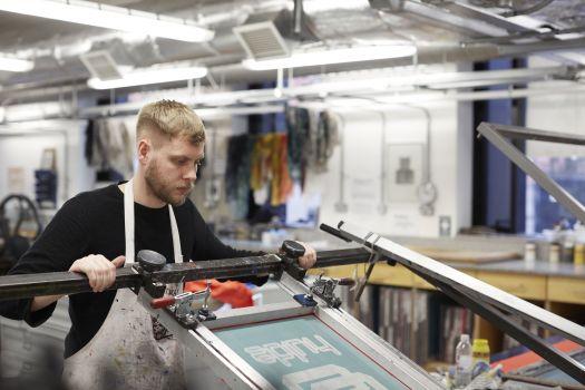 Wayne working in our print workshops