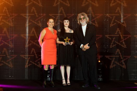 Graduate Emma Davies with her Little Chip Student Award