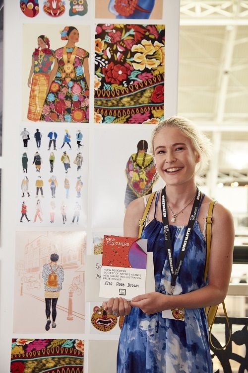 Ella Rose Brown, winner of the SAA New Talent in Illustration Associate Prize