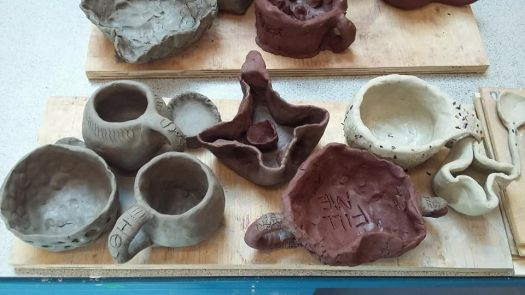 Clay designs from art workshop
