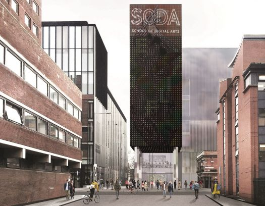 Artist impression of new School of Digital Arts (image: Feilden Clegg Bradley Studios)